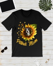 Pitbull Mom Sunflower Mother Day Gift  Classic T-Shirt lifestyle-mens-crewneck-front-17