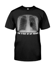 THE X-RAY OF MY HEART CAT Classic T-Shirt front