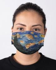 NKH023 Van Gogh Cat Cloth face mask aos-face-mask-lifestyle-01