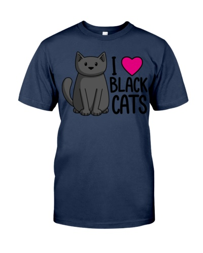 Cats T-ShirtI Love Black Cats T-Shirt
