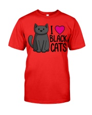 Cats T-ShirtI Love Black Cats T-Shirt Classic T-Shirt thumbnail
