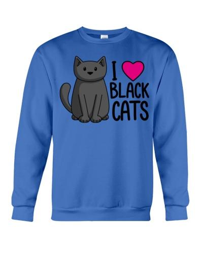 Cats T-ShirtI Love Black Cats T-Shirt