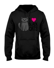 Cats T-ShirtI Love Black Cats T-Shirt Hooded Sweatshirt thumbnail