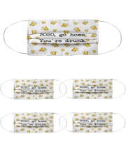 VAK039 You Are Drunk Cloth Face Mask - 5 Pack front