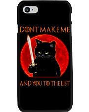 Black Cat Dont Make Me  Phone Case tile