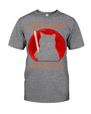 Black Cat Dont Make Me  Classic T-Shirt tile
