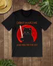 Black Cat Dont Make Me  Classic T-Shirt lifestyle-mens-crewneck-front-18