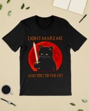 Black Cat Dont Make Me  Classic T-Shirt lifestyle-mens-crewneck-front-19