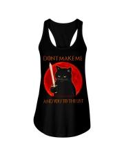 Black Cat Dont Make Me  Ladies Flowy Tank tile