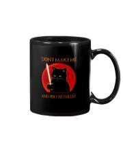 Black Cat Dont Make Me  Mug tile