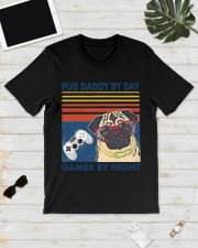 Pug Daddy By Day Vintage Fathers Day T-ShirtPug Da Classic T-Shirt lifestyle-mens-crewneck-front-17