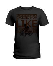 Cycling Mom Like  Ladies T-Shirt tile