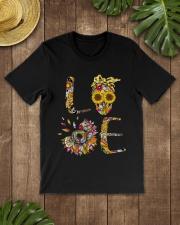 Sunflower Skull Tattoo HTH Classic T-Shirt lifestyle-mens-crewneck-front-18