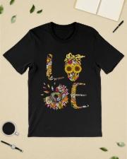 Sunflower Skull Tattoo HTH Classic T-Shirt lifestyle-mens-crewneck-front-19