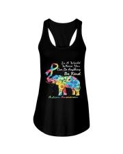elephant austim Ladies Flowy Tank tile