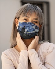 VAK027 Death Starry Night Cloth face mask aos-face-mask-lifestyle-17