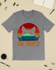 Black Cat Mask Vintage Classic T-Shirt lifestyle-mens-crewneck-front-19