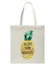 Accept adapt advocate pineapple shirt Tote Bag thumbnail