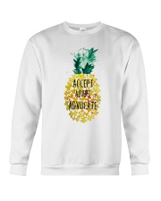 Accept adapt advocate pineapple shirt Crewneck Sweatshirt thumbnail