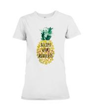 Accept adapt advocate pineapple shirt Premium Fit Ladies Tee thumbnail