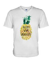 Accept adapt advocate pineapple shirt V-Neck T-Shirt thumbnail