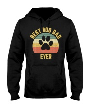 Vintage Dog Dad Cool Hooded Sweatshirt thumbnail
