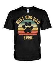 Vintage Dog Dad Cool V-Neck T-Shirt thumbnail