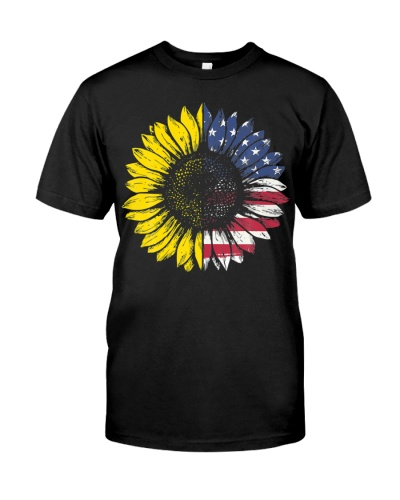 Sunflower American Flag Patriotic 4th Of July