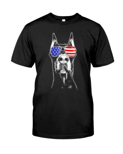 Doberman Sunglasses American Flag 4th Of July