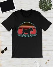 Schnauzer Dog Retro Vintage 80s Style Animal Lover Classic T-Shirt lifestyle-mens-crewneck-front-17