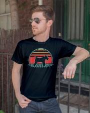 Schnauzer Dog Retro Vintage 80s Style Animal Lover Classic T-Shirt lifestyle-mens-crewneck-front-2