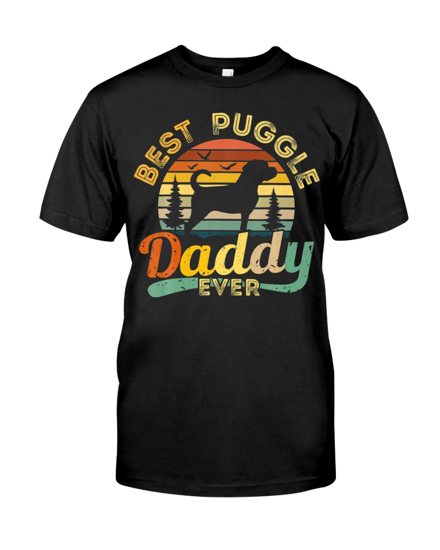 Puggle Dad Best Daddy Dog Lover Retro Vintage Classic T-Shirt