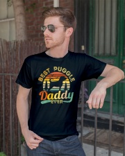 Puggle Dad Best Daddy Dog Lover Retro Vintage Classic T-Shirt lifestyle-mens-crewneck-front-2