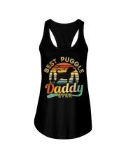 Puggle Dad Best Daddy Dog Lover Retro Vintage Ladies Flowy Tank thumbnail