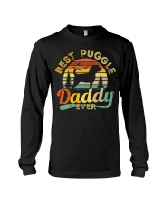 Puggle Dad Best Daddy Dog Lover Retro Vintage Long Sleeve Tee thumbnail