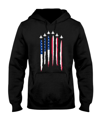 Air Force Flyover 4th of July Gift T Shirt