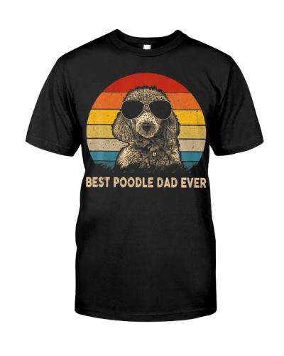 Best Poodle Dad Ever Vintage