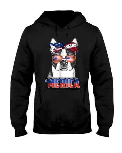 4th of July Patriot Boston Terrier Merica T Shirt
