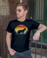German Shepherd Vintage Retro Classic T-Shirt lifestyle-mens-crewneck-front-2