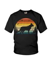 German Shepherd Vintage Retro Youth T-Shirt thumbnail