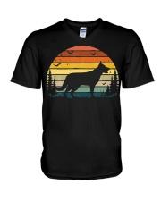 German Shepherd Vintage Retro V-Neck T-Shirt thumbnail