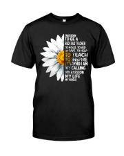 Daisy Flower- I Was Born To Be A Redhead Teacher Classic T-Shirt thumbnail