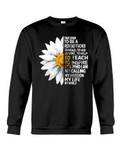 Daisy Flower- I Was Born To Be A Redhead Teacher Crewneck Sweatshirt thumbnail