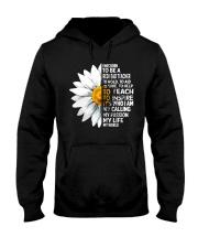 Daisy Flower- I Was Born To Be A Redhead Teacher Hooded Sweatshirt thumbnail