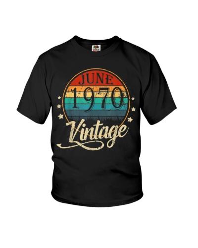 Vintage Born In June 1970 Man Myth Legend 50 Years