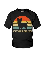 Best Yorkie Dad Ever Vintage Youth T-Shirt thumbnail