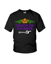 I'm With the Evil Queen  Youth T-Shirt front