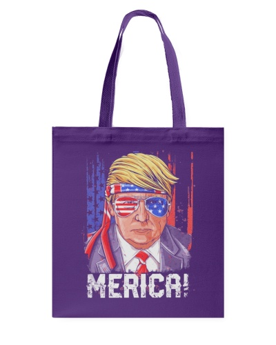 Merica Donald Trump 4th of July American Flag