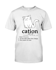 Cat-ion Cation science puns Funny Classic T-Shirt front