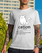 Cat-ion Cation science puns Funny Classic T-Shirt lifestyle-mens-crewneck-front-8